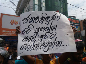 Embilipitiya people urge President to take action