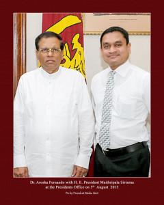 With President Sirisena