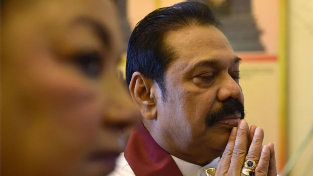 Mr Rajapaksa (right) remains popular with much of the Sinhalese community