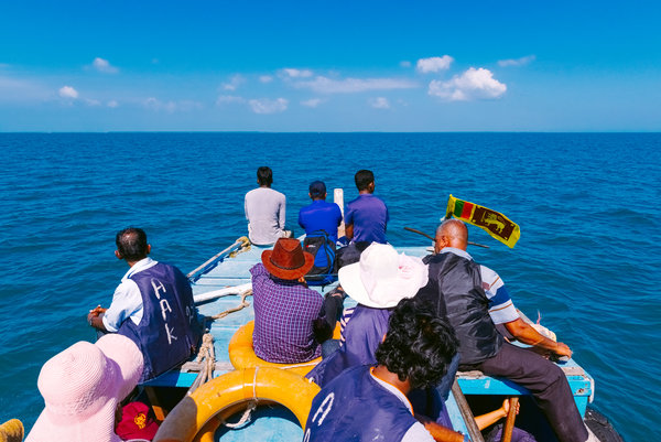 A boat heads for Delft Island. Credit Poras Chaudhary for The New York Times