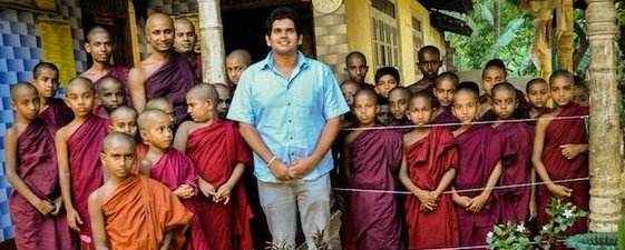 President's  son with young monks