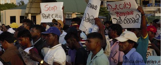 Protest against Port City No 01