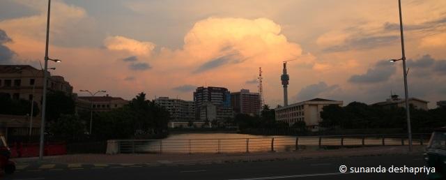 Sri Lanka skyline in Fort Colombo