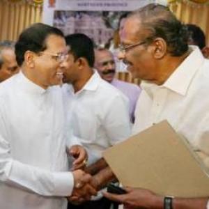 President with TNA MP Senathirajah