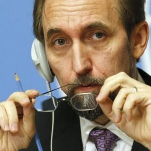 Rights Commissioner Zeid, image by Reuters