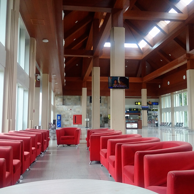A waiting area without people at Mattala Rajapaksa International Airport. Image: Wade Shepard