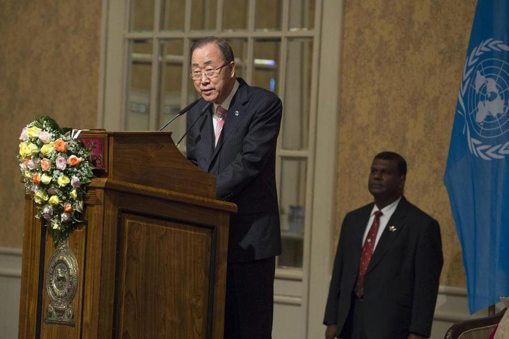 Ban ki Moon in SL 2016