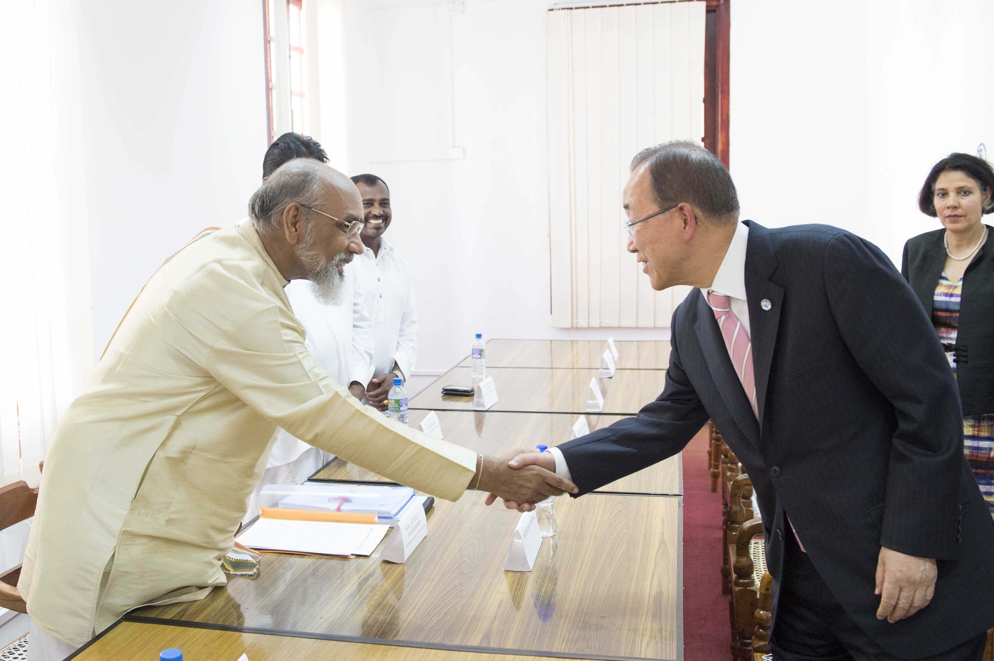 Secretary General meeting Chief Minister of the Northern Province.