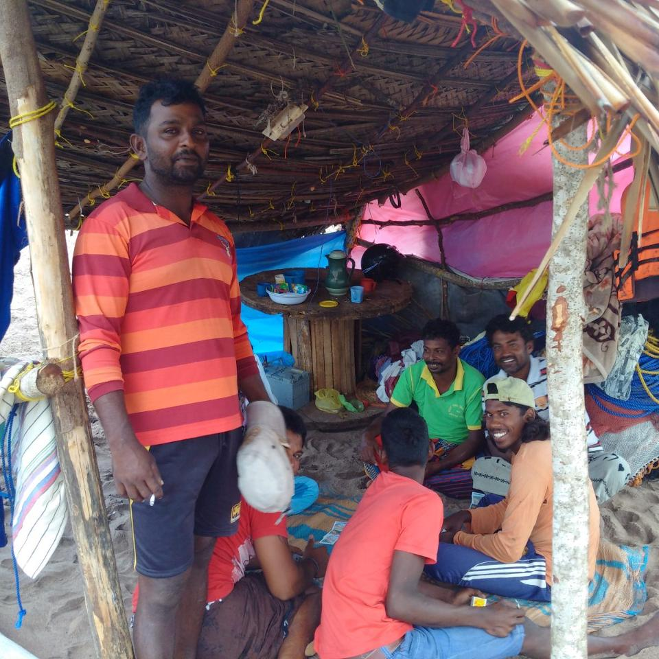 Local fishermen who live near the port. Some say the new port has adversely impacted their livelihoods. Image: Wade Shepard.