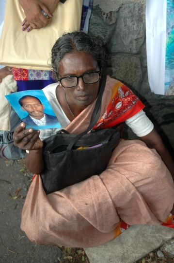 March 2007: Relative of a missing person in Colombo, by Amantha Perera.
