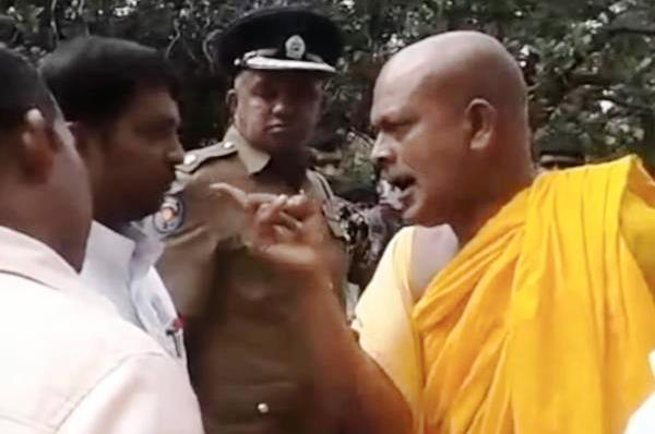 Image result for buddhist monks raid a court in sri lanka