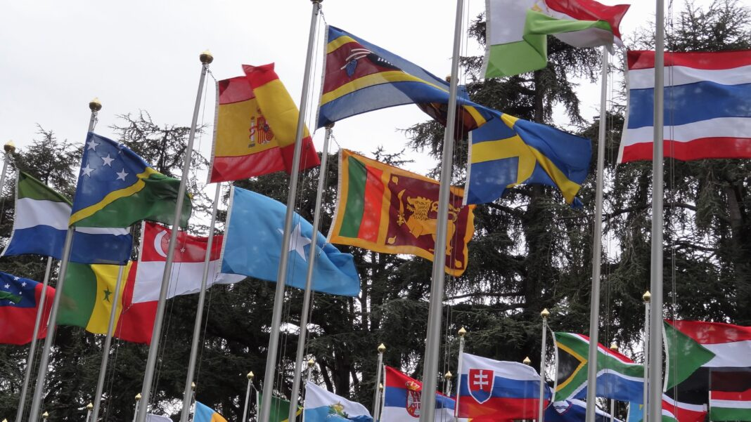 Sri Lannka flag at the UNHRC,Geneva © sunanda deshapriya සුනන්ද දේශප්රිය