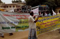 Iranaitheevu, Sri Lanka; a year of continuous protests to regain Navy-occupied land