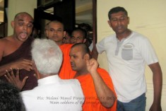 Monks led mob captured on Camera