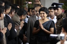 Sri Lankans protest ruling against Chief Justice