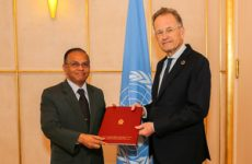 New Permanent representative of Sri Lanka presents credentials at UN office, Geneva
