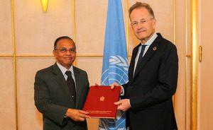 New Permanent representative of Sri Lanka presents credentials at UN office, Geneva