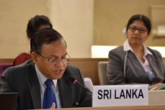 Sri Lanka responding to its report, praises the UN WG on Arbitrary Detention at HRC 39