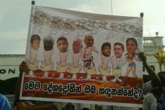 Pro Govt. Mob Mocks Leading Civil Society Activists in Sri Lanka