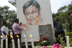 Supporters of slain Sri Lankan journalist call for justice