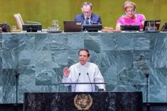 Allow Sri Lankan people to solve their problems on their own, Prez Sirisena tells UN