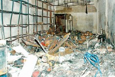 Muslim hardware shop was burned Down  in Mawanella; Rishard condemns