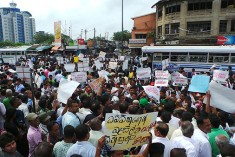 Sri Lankan opposition activists protest military's killing of 3 civilian protesters