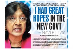 I had great hope in the new Government – Navi Pillay