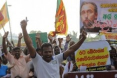 Sri Lankan Nationalists Protest UN Rights Chief's War Crimes Visit