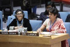 "Sri Lanka to UN SC: ""Transitional justice mechanisms need to take cognizance of the various historical, cultural and religious sensitivities."""