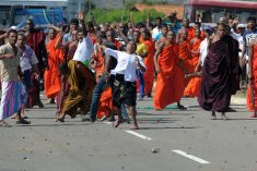 Sri Lanka PM's security devision takes Hiru TV drone in to custody