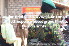 COVID-19:  Sri Lanka's militarised response poses grave threats to human rights – ACPR report