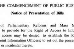 Sri Lanka's Right to Information Bill presented to Parliament