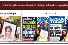 Journalists demand apology from newspaper over manipulated photograph of Lasantha's daughter