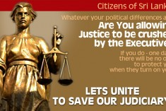 Are you allowing Justice to be crushed by the Executive ?