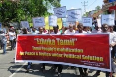 """Tamil Arise"" agitation in Jaffna: JHU and Wigneshwaran trade accusations"