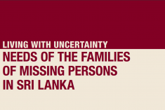 ICRC Report: Needs Of The Families Of Missing Persons  In Sri Lanka