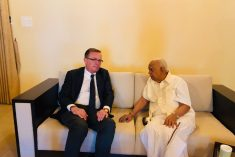 Sampanthan requestes the former UN envoy to highlight the Sri Lankan crisis internationally