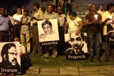 Sivaram, Lasantha, Prageeth Among Journalists Remembered at Colombo Vigil