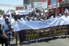 Media groups protest against SL military's shadow war