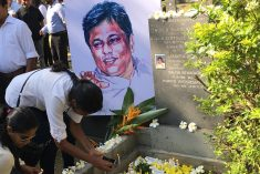 Sri Lanka slaying anniversary highlights hunt for justice