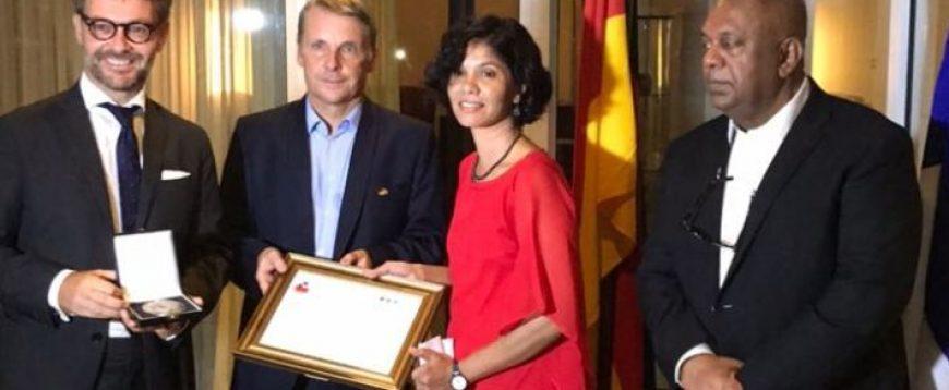 Sri Lankan human rights activist Shreen Saroor gets Franco-German award