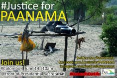 Sri Lanka: Campaign for Panama people's to right to own land tomorrow