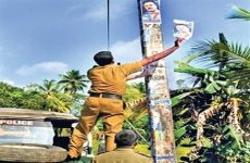 Sri Lanka  bans posters and banners without permission