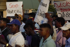 Protest Against Chinese Funded Port City Project in Sri Lanka: Photo Story