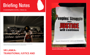 Sri Lanka: Transitional Justice and emerging challenges (Briefing Note No 14)