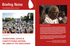 Report: Transitional Justice  and Constitutional Reform:  Sri Lanka as the Cross Roads