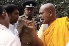 Video Showing Monk's 'Death Threat' to Tamil Officer Goes Viral
