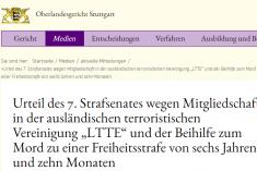 The judgment of the Stuttgart criminal Court on sentencing LTTE intelligence operative for the murder of Lakshman Kadirgamar