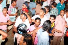 Sri Lanka Opposition Candidate's Rally In Pelmadulla Attacked